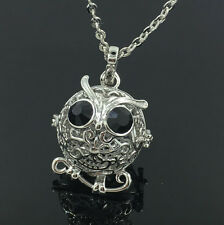 Silver Locket Necklace Fragrance Essential Oil Aromatherapy Diffuser Pendant D5