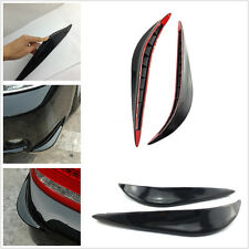 2 Pcs Black Car Front Bumper Protection Strips Guard Anti-Rub Bars For Off-Road