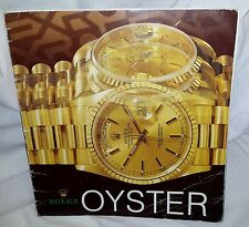 ROLEX Watches OYSTER 1993 Book From Rolex Building in New York 41 Pg Switzerland