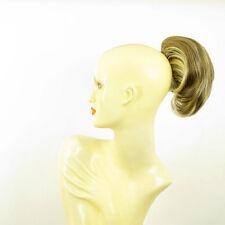 Postiche queue de cheval femme blond clair méché clair et chocolat 2 en 15613h4