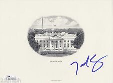 Ted Cruz In-Person SIGNED White House Engraving (BEP) w/ JSA COA # K08083