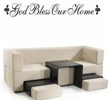 GOD BLESS OUR HOME Words Wall Decal Decor Quote Lettering Sticky Sticker 36""