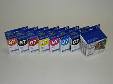8 Genuine Epson R1900 ink 87 T0870 T0871 T0872 T0873 T0874 T0877 T0878 T0879