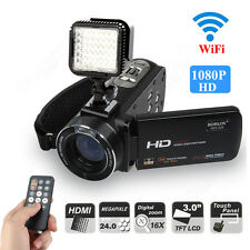 1080P 24MP HD Digital Video Camcorder Camera DV 3'' TFT LCD 16x Zoom+Video Light