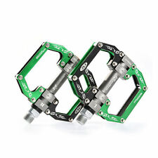 RockBros Bicycle Pedals Bicycle Cycling Sealed Bearing Pedals Black Green
