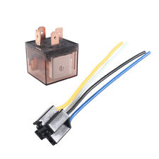Car Truck Auto 12V 80A 80 AMP SPST Relay Relays 4 Pin 4P & Socket 4 Wire Sales