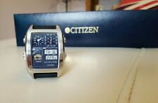Citizen Action ana-digi-temp Japan W.R. 5BAR multi function Watch! RARE