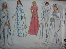 VINTAGE 1970'S WEDDING DRESS SEWING DRESSMAKING PATTERN