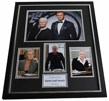 Dame Judi Dench SIGNED Framed Photo Autograph Huge display James Bond Film AFTAL