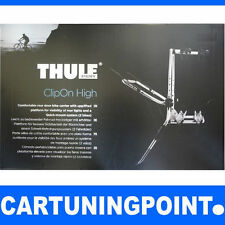 THULE supporto post bicicletta supporto post per 2 biciclette ClipOn HIGH 9105 ARGENTO 3 NUOVO