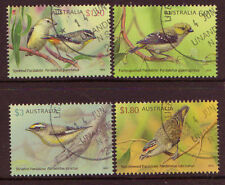AUSTRALIA 2013 BIRDS PARDALOTES SET OF 4 FINE USED