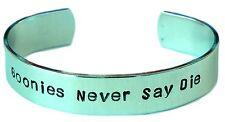 Goonies Never Say Die Hand Stamped Aluminum Bracelet