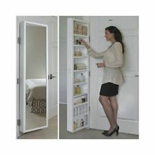 Classic Deluxe Behind Door Storage Cabinet with Full Length Mirror C804990