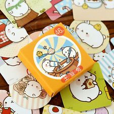 46pcs/pack Rabbit Stickers Kawaii Planner Notes Memo Pad Sticky Stationery
