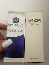 MYSTIQUE & SKINDM - 2 ITEMS instant wrinkle smoother face eyes lift cream £79.98