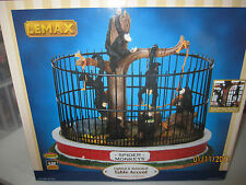 "TRAIN HOUSE VILLAGE CARNIVAL ZOO  "" ANIMATED MONKEY CAGE  "" + DEPT 56/LEMAX info"