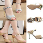 Women Sexy Peep Toe Pumps Stiletto Shining Sandals High Heel Slipper Party Shoes