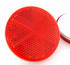 Bolted Red Round Circular Trailer Caravan Tractor Reflectors 60mm