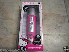 Hello Kitty 10109-HK Wireless Karaoke Microphone Pink MP3 W/ Built-in Speaker