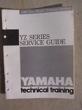 1987 Yamaha Motorcycle YZ Series Service Guide Manual Technical Training Bike L