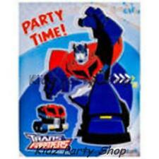 TRANSFORMERS - 6 INVITE CARDS + ENVELOPES - BIRTHDAY PARTY - FREE POST IN UK