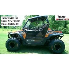 "Black Safari 3"" Fender Flares Set of (4) Polaris RZR 800, RZR S, RZR 4 2008-2010"