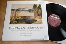 BEETHOVEN violin sonatas DAVID OISTRAKH Oistrach OBORIN LP Philips 6273iny: nm