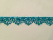 MOROCCAN LACE TRIM TEAL RIBBON TAPE DRESSMAKING CRAFT SCALLOPED FLORAL
