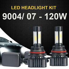 2PC 9004 9007 120W LED Headlight White Hi/Low Beam 6000K 12000LM Bulbs Car NS1