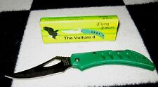 """VULTURE FLYING FALCON STAINLESS LOCKBACK BLADE 5.5"""" KNIFE GREEN HANDLE NEW"""