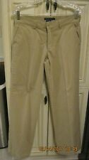 Ralph Lauren Women's Polo Classic Chinos Sz 6 Cotton Mid Rise 32x30.5