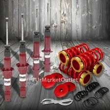 DNA Red Gas Shock Absorber+Red/Gold Adjustable Coilover For Honda 92-95 Civic EG