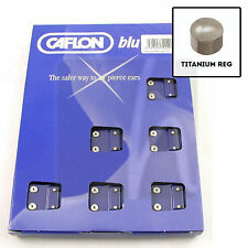 Regular TITANIUM Ear Studs Pack of 12 pairs (24 studs) Caflon Ear Piercing