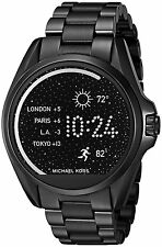 NIB Michael Kors Access Touch Screen Bradshaw Black Ion Smartwatch MKT5005