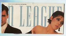 Human League cd-maxi LOVE IS ALL THAT MATTERS 1988 UK-3-track Tri-Fold Cardsleev
