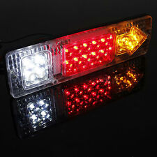 2X 24V 19Led ATV Trailer Truck LED Taillight Reversing Running Brake Turn Lights