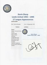 KEVIN SHARP LEEDS UNITED 1992-1995 ORIGINAL HAND SIGNED CUTTING/CARD