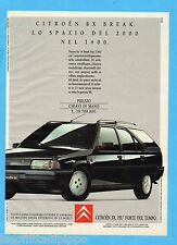 QUATTROR991-PUBBLICITA'/ADVERTISING-1991- CITROEN BX BREAK