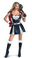 Damas Sexy Superhéroe/Viking/3 PCE Vestido Disfraz De Thor Cinturón y Mangas Talla 8-12