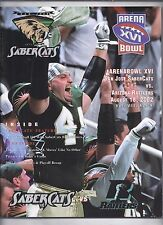 Arena Bowl 16 XVI Program 2002 Arizona Rattlers San Jose Sabercats AFL #2