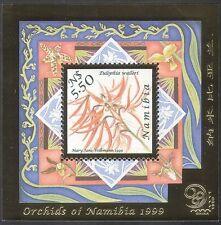 Namibia 1999 Orchidee / fiori / piante / stampex / ORO FOIL sbalzata IV M / S (B903)