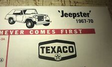 1967 1968 1969 1970 JEEP JEEPSTER    - TEXACO USA Lube Chart