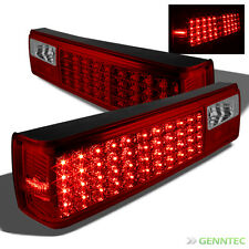 For 87-93 Ford Mustang LED Red Smoked Tail Lights Lamp Pair New Left+Right