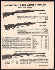 1973 REMINGTON Model 700ADL, 700BDL, Safari Bolt-Action Rifle AD
