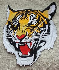 LARGE TIGER HEAD PATCH Cloth Badge/Emblem/Insignia 23cm x 20cm Biker Jacket Bag