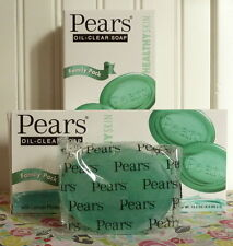 LOT OF 6 PEARS SOAP OIL CLEAR FORMULA CLEANSING BARS (GREEN) 4.4 OZ. X 6