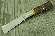 RARE VINTAGE ED LOUCHARD CUSTOM SLIPJOINT SAILOR FOLDING KNIFE STAG HANDLE