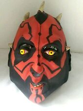 DARTH MAUL MASK Sith STAR WARS Adult Full head Cosplay Costume Lucasfilm LARP