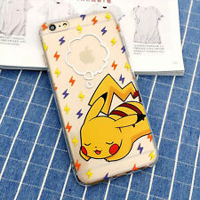 PIKACHU CUTE ANIME POKEMON KAWAII IPHONE 6 SOFT CASE - UK SELLER