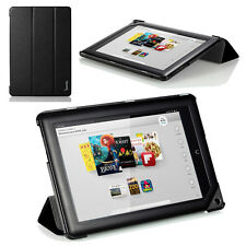 Poetic Slimline Ultra-Slim PU Leather Stand Case For Nook HD 9 Tablet Black